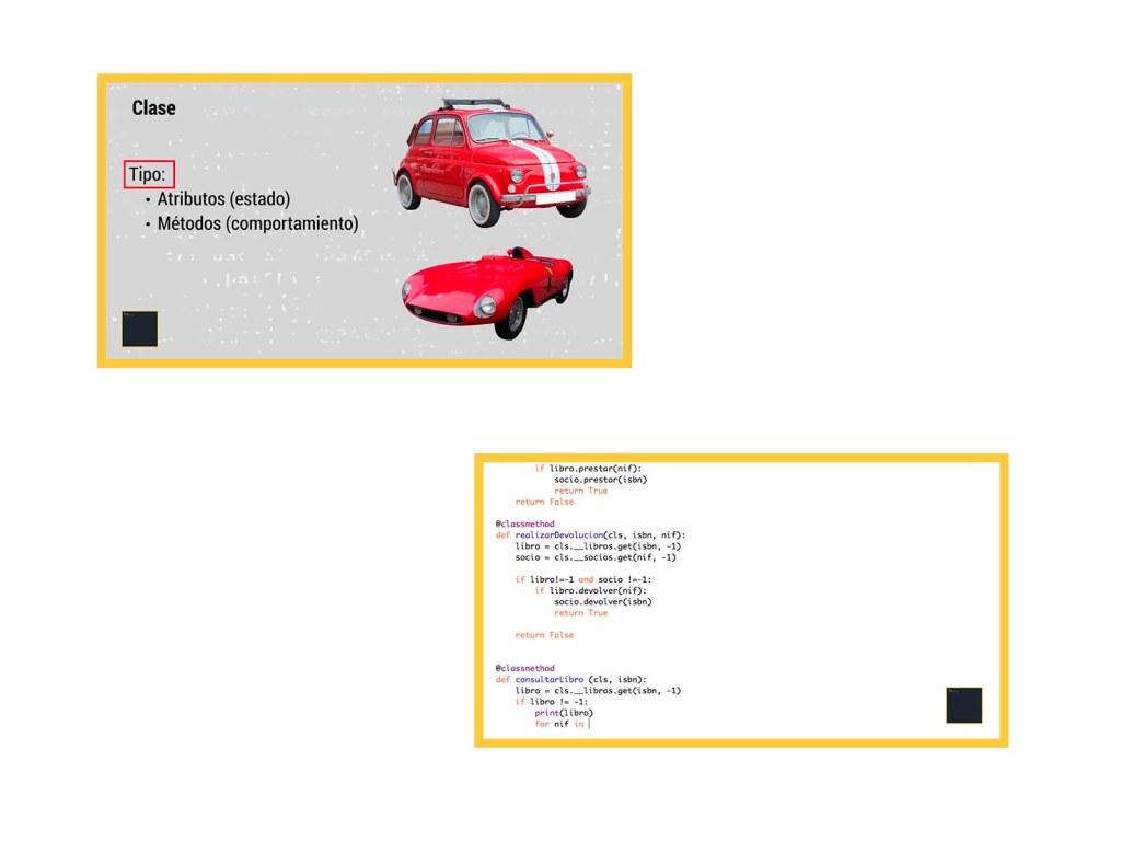 Ejemplos de programación orientada a objetos en python.